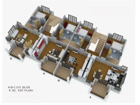 Fethiye Merkezinde Satılık Yüzme Havuzlu 2 Oda 1 Salon Daire